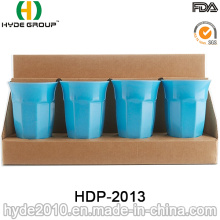 Coupe en fibre de bambou plastique réutilisable écologique (HDP-2013)