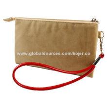 Velvet Zipper Bag for iPhone, with Quality Zipper Slider and LanyardNew