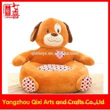 Factory yangzhou baby kids soft dog chair cute plush stuffed animal chair