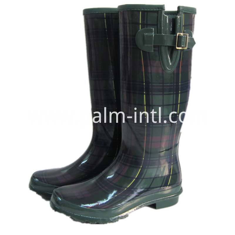 100% Waterproof Plaid Gum Rainboots