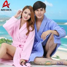 Four seasons 100% cotton terrycloth shawl collar hotel bathrobe