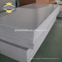 JINBAO 4x8 rigid pvc sheet white Hard pvc Rigid Board