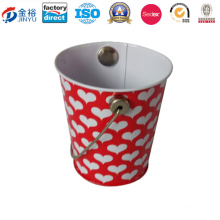 Two Size Printed Rust-Proof Ice Bucket with Handle