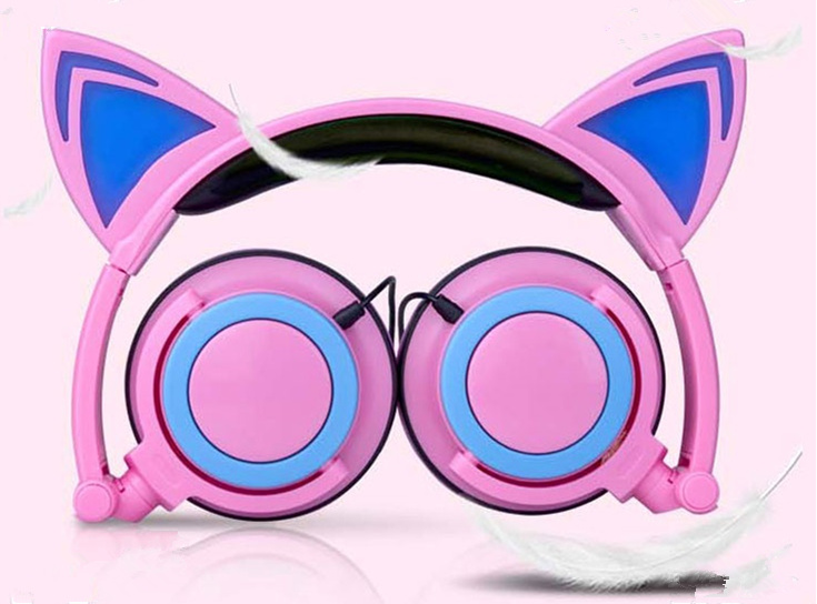 foldable cat head earphone
