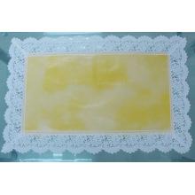 Nappe imprimée de PVC avec la frontière de dentelle (JFCD0138)