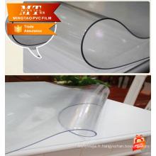 Revêtement en gros en plastique film imprimé en PVC une belle nappe en plastique