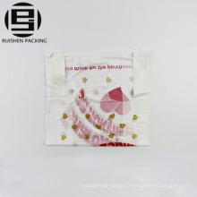 Les sacs en plastique imprimés de T-shirt conçoivent l'emballage alimentaire