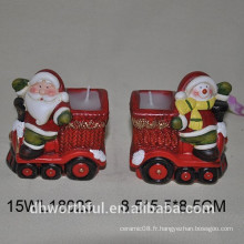 Support en céramique en forme de Santa pour Noël