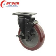 Колесопрядильное колесо с ручным приводом с поворотным колесом 3 литра с боковым тормозом