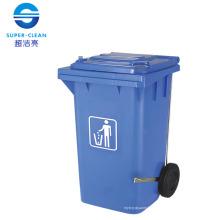 Cubo de basura plástico para 100L / 120L / 240L con Pedal-Pedal Side-Wheel