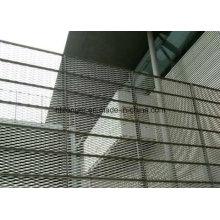 Barrière de treillis métallique galvanisé du élargi