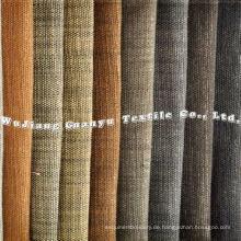 100% Polyester Imitation Slub Leinenstoff für Sofabezüge