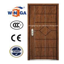 Porte blindée en bois plaqué en MDF en acier de qualité supérieure (WA-10)