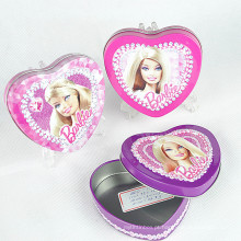 Custom Fancy Colored Gift Coração Bolo De Lata Pode Bulk Cheap Chocolate Embalagem Embutido De Grande Coração