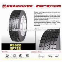 Roadshine Marke 12R22.511R24.5 295 / 75R2213R22.5 295 / 80R22.5 Cooper Reifenfabrik TBR Reifen Alle Radialstahlreifen für LKW