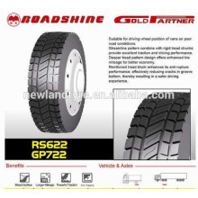 Roadshine marca 12R22.511R24.5 295 / 75R2213R22.5 295 / 80R22.5 Cooper Tire Factory TBR neumáticos Neumáticos de acero radiales para camión