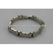 Vente en gros bon marché, bracelet en énergie en acier inoxydable de mode 2014, fabricant de hommes bracelet.china