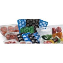 Standard de qualité exporté perforé thermoformé 29 * 39cm, 29 * 49cm, 39 * 59cm emballage en plastique de plat d'insertion de fruit d'utilisation dans la catégorie comestible