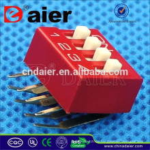 Daier rot / blau 1 ~ 12 Position Kunststoff rechtwinklig Typ DA Serie Dip Switch