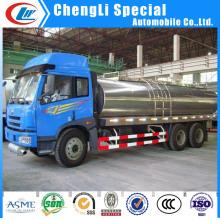 Caminhões 5tons do transporte do tanque do leite do aço inoxidável para a venda