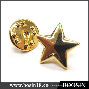 Atacado banhado a ouro Star Cuff Link # 5931