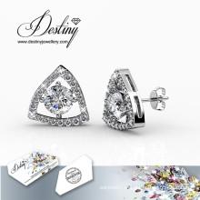 Destino joias cristais de Swarovski montagem brincos