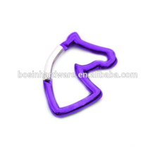 Fashion High Quality Metal Horse Carabiner Keychain