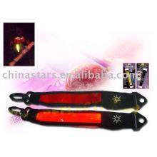 Reflective LED Armband with reflective PVC tape