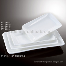 bone china white rectangular plates porcelain