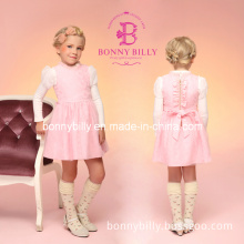 Pink Woolen Sleeveless Children Clothes for Christmas Party Wear (332#)