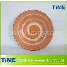 Lavado a mano Logotipo personalizado Platos de cerámica Platos