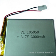 Small Size 105050 3.7V Lithium Polymer Battery 3000mAh