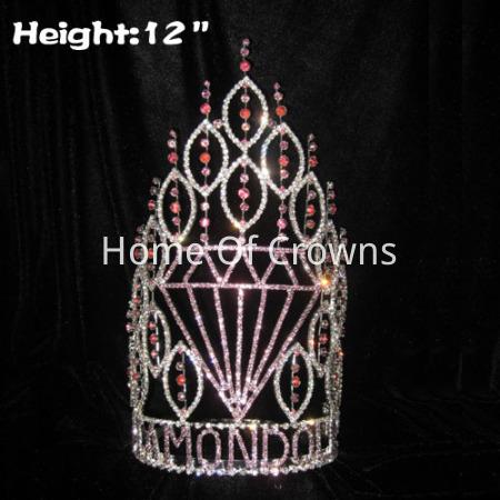 Coroas em forma de diamante do concurso por atacado de altura de 12 polegadas
