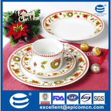Christmas series luster lofty 16pcs china ceramic dinnerware with tea set                                                                         Quality Choice