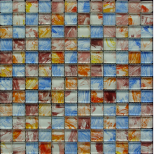 Various color hand painting glass mosaic
