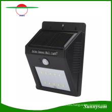 10 LED Wireless Outdoor Wall Mounted Solar Light with Motion Sensor Light