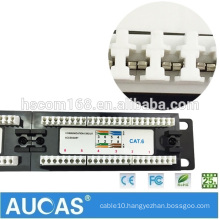 Factory Directly Supply 110 Type Dual IDC UTP RJ45 Cat6 24 Port Patch Panel