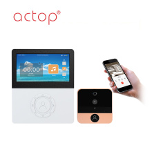 ACTOP 4.5inch HD kamera wifi penampil pintu digital