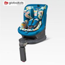 Child car seats with grey-orange covers