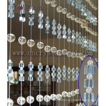 Cortina de janela de porta de cristal moda para casa e decoração do casamento