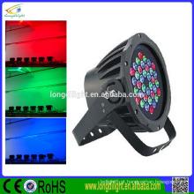 Luz profissional impermeável da luz do estágio RGB 36 * 3w DMX luz do par