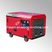 Conjunto de Generador Diesel de Dos Cilindros de Aire Enfriado Color Rojo (DG15000SE)