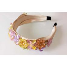 Шику Мода Красочные Циркон Цветок Украшенный Драгоценными Камнями Головной Убор
