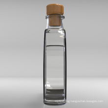 Hot-Selling Luxury Wine Heart-Shaped Glass Bottles with Cork for Vodka