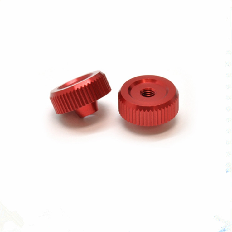 Color Anodized Aluminum Diamond Knurled Thumb Nut