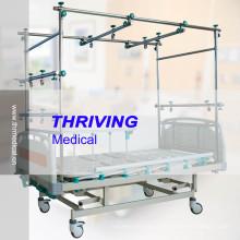 Четырехколесные высокопрочные ортопедические тяговые кровати (THR-TB003)