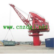 Grue portique portique à flèche unique pour la manutention de barges