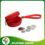 Fashion red silicone macaron wallet