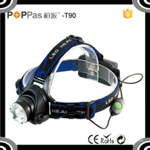 T90 Telescopic Xml T6 High Power Headlight for Outdoors Safetys Plastic Camping LED Headlamp