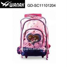 Атласная красота студенческих ребенок тележки рюкзак